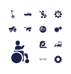 Wheel icons vector