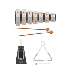 xylophone and two mallets on hite background vector image