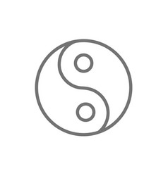 Yin yang sign traditional chinese symbol line vector