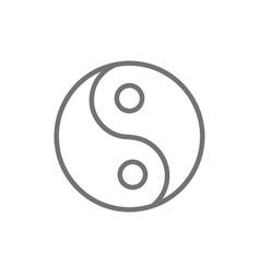yin yang sign traditional chinese symbol line vector image