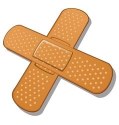 Adhesive bandage on a white background vector image