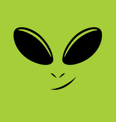 alien face vector image vector image