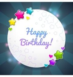 Beautiful Birthday card template vector image