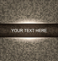 Brick wall background with light vector image