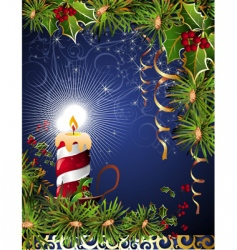 Christmas floral background vector image