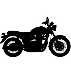 classic motorbike silhouette vector image vector image