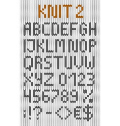 Knitted uppercase english alphabet vector image vector image
