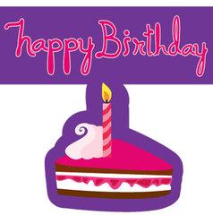 pattern of happy birthday cake vector image