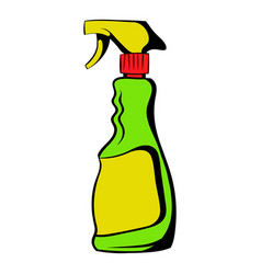 plastic hand spray bottle icon icon cartoon vector image
