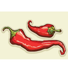 Red hot peppers vector image vector image