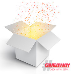grey box giveaway competition template vector image