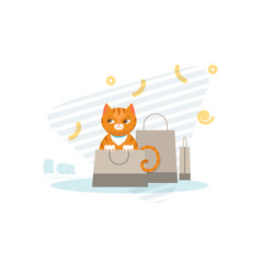 hunting cat concept vector image vector image