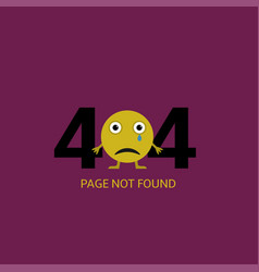 page not found vector image