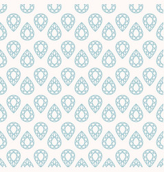 Seamless pattern with gemstones vector