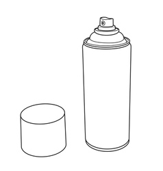 Spray paint can outline vector