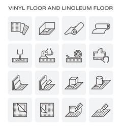 vinyl floor icon vector image
