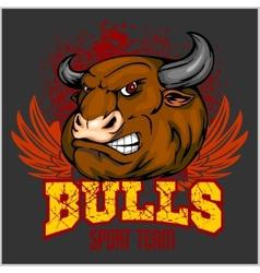 Bull Head Mascot - for sport vector image vector image