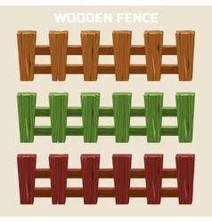 cartoon colorful wooden fence vector image