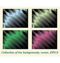 Collection of the backgrounds vector image vector image
