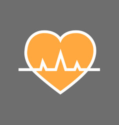 heart with pulse beat rate icon vector image