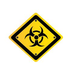 metal biohazard warning sign icon vector image vector image