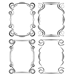 Set of four elegant framework vector
