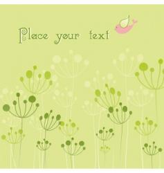 springtime colorful bird flora vector image
