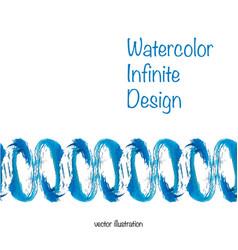 watercolor infinite design vector image