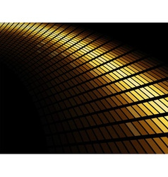 Abstract gold colored mosaic background vector image