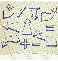 Arrows sketch vector image vector image