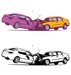 Car Collision vector image