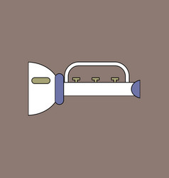 flat icon design collection children trumpet vector image