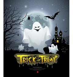 Happy Halloween ghost vector image