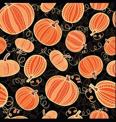 orange and black pumpkins texture seamless vector image