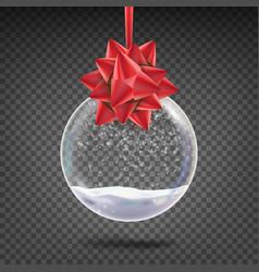 realistic christmas ball shiny glass xmas vector image vector image