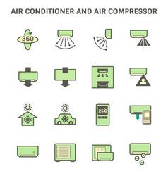 20190414 air conditioner icon 6 green vector