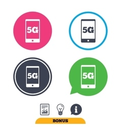 5G sign Mobile telecommunications technology vector