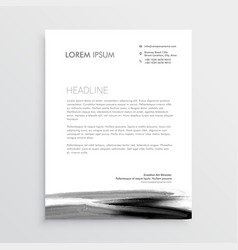 abstract letterhead template design with paint vector image