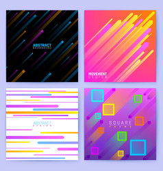 Abstract trendy motion backgrounds with vector