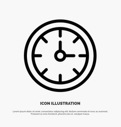 alarm clock stopwatch time line icon vector image