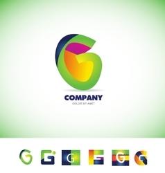 Alphabet letter G logo vector image
