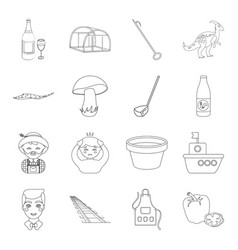 Animals alcohol plants and other web icon in vector