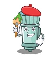 Artist flashlight cartoon character style vector