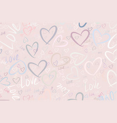 Background or backdrop love for valentine day vector