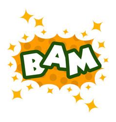 Bam icon pop art style vector