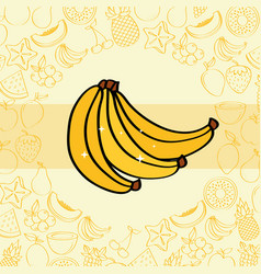 bananas fruits nutrition vector image