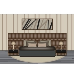 Bedroom Elevation Room with Luxury vector image