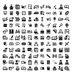 big education icons set vector image