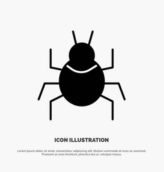 Bug nature virus indian solid glyph icon vector