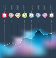Business chart graph increase infographics vector
